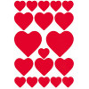 HERMA STICKERS DECOR LOVE HARTENKUSSENTJES ROOD