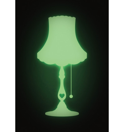 MUURSTICKERS GLOW IN THE DARK NIGHTLAMP LOVE - 14x28CM
