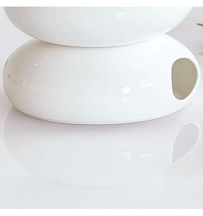 A TABLE - THEEPOTVERWARMER WHITE - 17x6,7cm - BONE CHINA