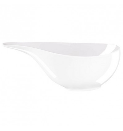 A TABLE - SAUCIERE WHITE - 19X9cm - BONE CHINA