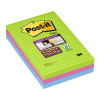Post-It Notes Super Sticky 102X152mm Gelijnd - 3X90vel - Ultra Colors