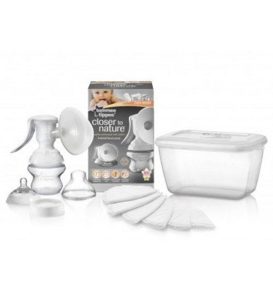 BORSTPOMP - INCLUSIEF ZUIGFLES 150ML TOMMEE TIPPEE - IN BOX