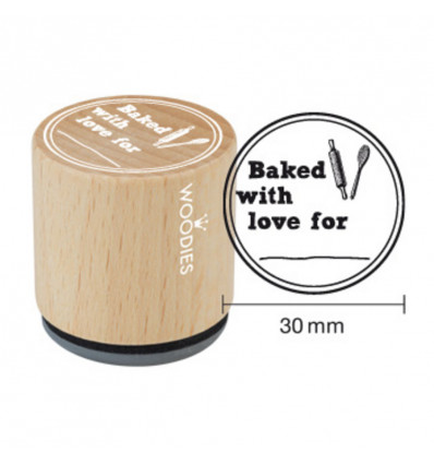 Woodies Stempel - Baked With Love For