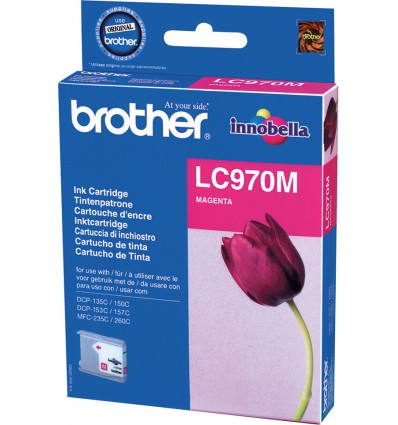 Brother LC970M Cartridge Inkjet Magenta - CDP135C