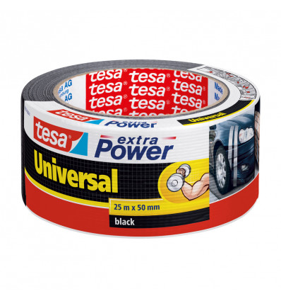 TESA EXTRA POWER VERSTERKING HERSTELLING25MX50MM - 1 ROL UNIVERSEEL ZWART