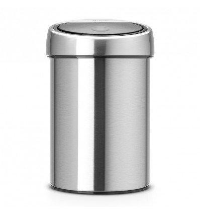 Brabantia Afvalemmer Touch Bin 3l Matt Steel Fingerprint Proof