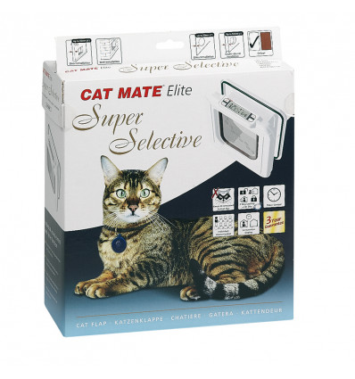 CAT MATE DEUR ELITE SUPER SEL WIT