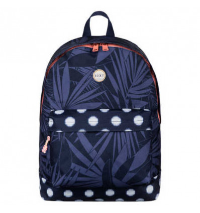 RUGZAK - BE YOUNG - 24L - 40x32x18cm ROXY - SMALL IKAT DOTTS COMBO PEACOAT