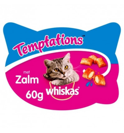 WHISKAS TEMPTATIONS 60GR ZALM