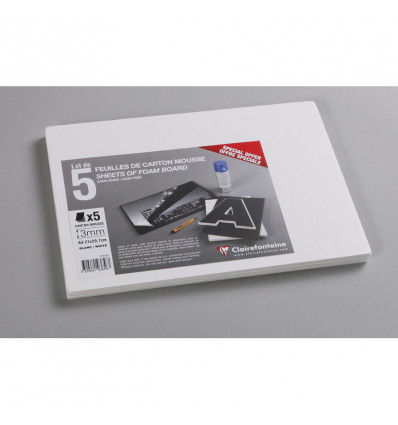 Clairefontaine Foam Board A4 Wit 3 mm - 145 g - 5 vel