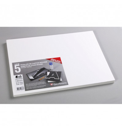 Clairefontaine Foam Board A3 Wit 3 mm - 290 g - 5 vel