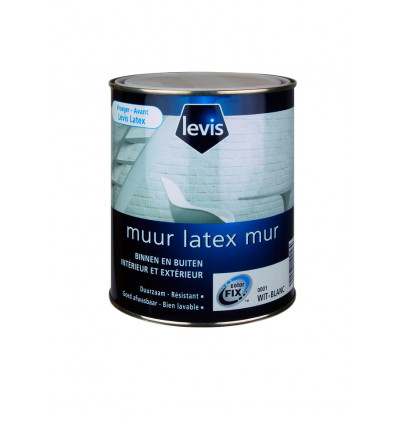 LEVIS MUUR LATEX 1000ML WIT KLEUR 1