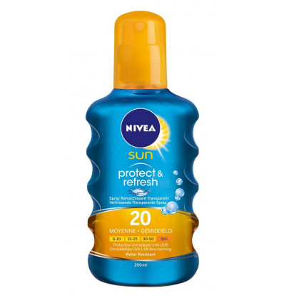 Nivea Sun Spray Protect&Refresh - SPF20 200ML - Verfrissend & Transparant