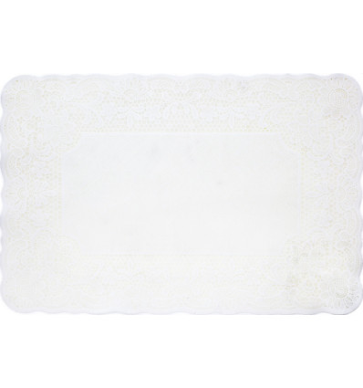 PLACEMAT SILICONE KANT - WIT COSY&TRENDY - 43.5X30CM - PVC
