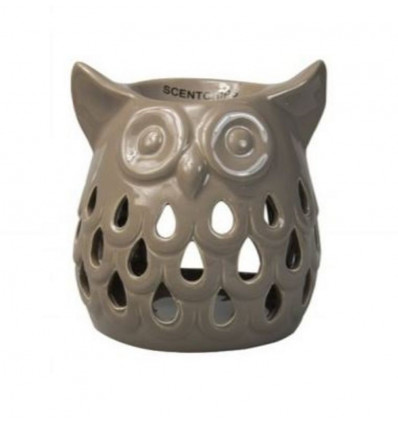 Scentchips Burner Owl Cut Out 11.5x10.5x11.5 - Taupe