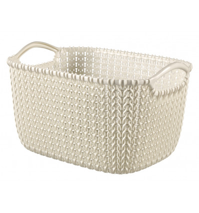 Curver Opbergmand Knit S 8L Oasis White - 296x222x172mm