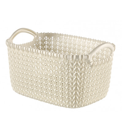 Curver Opbergmand Knit XS 3L Oasis White - 248x173x137mm