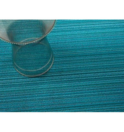DEURMAT - SKINNY STRIPE - 46x71cm CHILEWICH - TURQUOISE - MADE IN USA