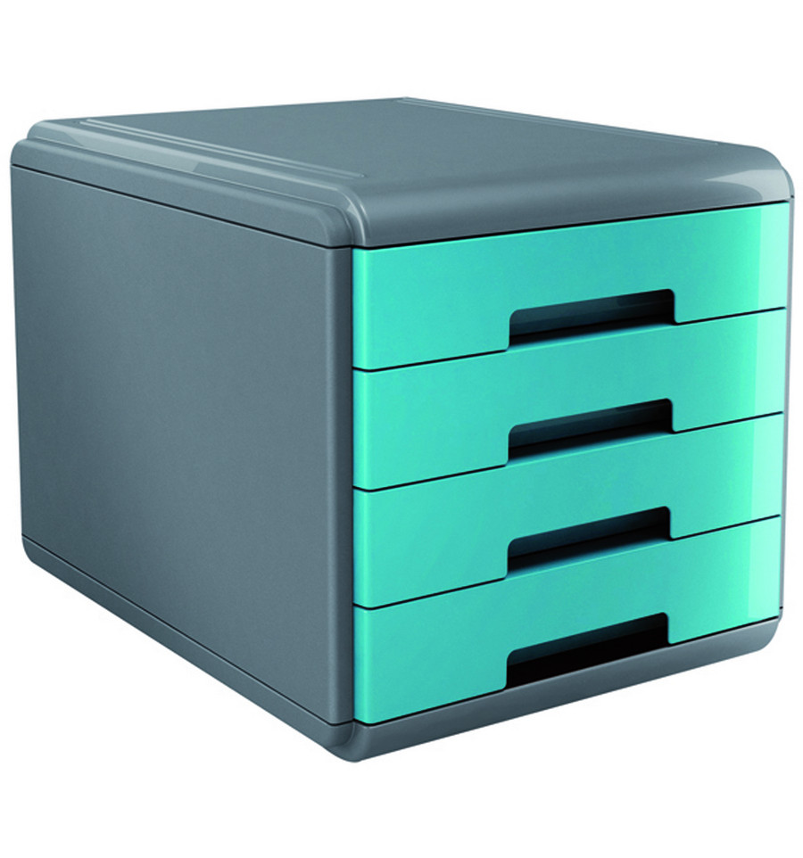 Ladenblok my desk arda turquoise for Ladenblok trolley