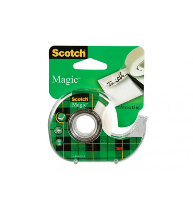 Scotch by 3M Magic Kleefband Onzichtbaar 15m x 19mm + Dispenser