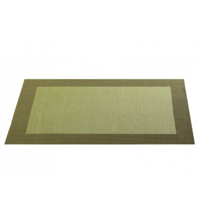 PLACEMAT 33x46 cm MET BOORD OLIVE - WOVEN BORDER