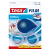 KLEEFBAND - FILM - 10M x 19mm - 2 STUKS TESA - CRYSTAL + MINI DISPENSER
