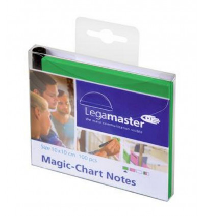 Legamaster Magic-chart Notes Groen 10x10cm