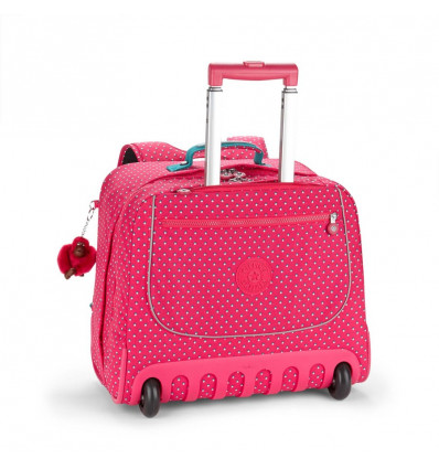 BOEKENTAS TROLLEY - CLAS DALLIN - 25L 39.5x42.5x26cm - PINK SUMMER POP