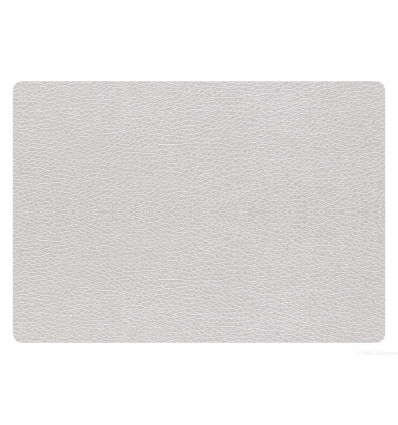 PLACEMAT - 43x33cm - LEATHER OPTIC ASA - ZILVER
