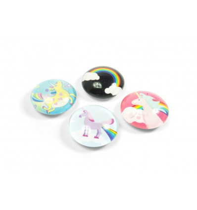 MAGNETEN EYE - UNICORN TRENDFORM - 4 STUKS ASSORTI