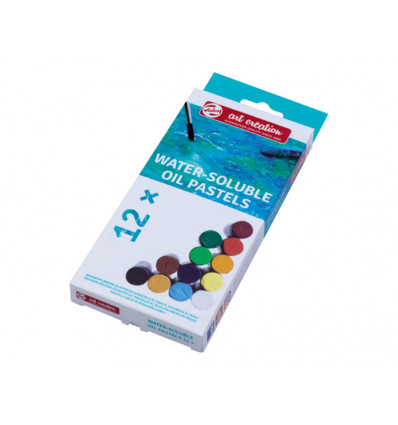 Talens Art Creation Oliepastels 12stuks - Assorti - Wateroplosbaar