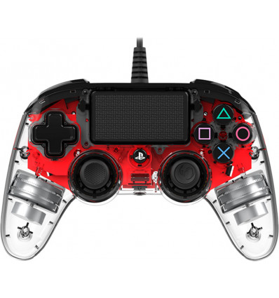 Nacon Wired Illuminated Compact Controller Red PS4
