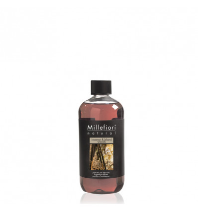 Millefiori Stick Diffuser Navulling 250ml - Incense & Blond Woods