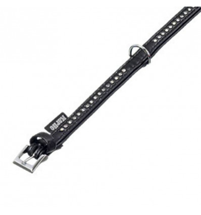 ART LEATHER PLUS, HALSBAND, 14MM, 32CM, ZWART, MT.CARLO
