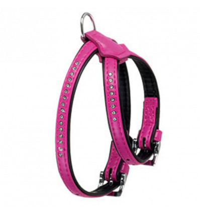 ART LEATHER PLUS, tuig, 11MM, 30-37CM, PINK, MT.CARLO
