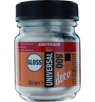 AMSTERDAM ACRYLVERF - UNIVERSEEL GLOSS ZILVER - POTJE 50ml