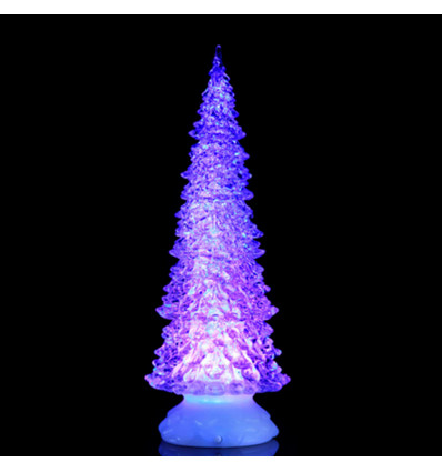 deco kerstboom led changing colours 32x12cm verlicht