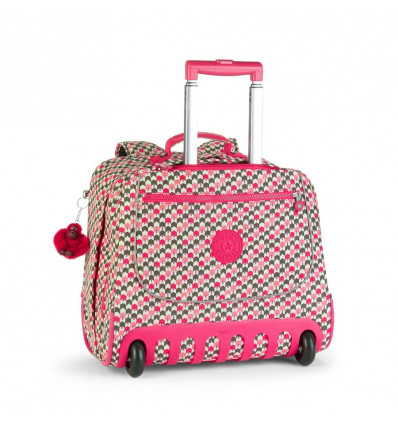 Kipling Clas Dallin Boekentas/Trolley Latin Mix Pink