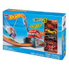 Hot Wheels Crane Crasher speelset met 5 auto's