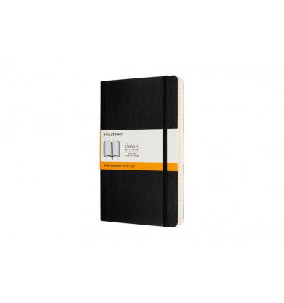 Moleskine Notebook Large Notes Expanded Soft Cover - Gelijnd - Zwart