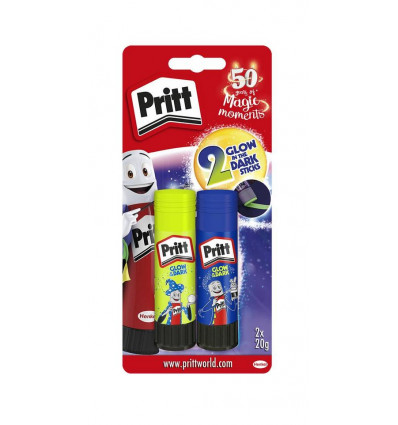 Pritt Stick 2x 20 gram Glow in the Dark