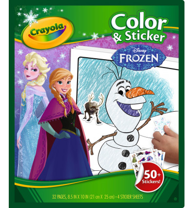 Crayola Kleur en Stickerboek Frozen Core Coloring