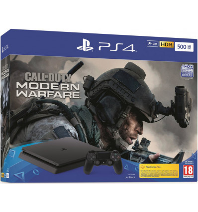 PS4 Slim Console 500GB Black + Call of Duty: Modern Warfare
