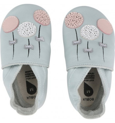 BOBUX Pantoffel Soft Sole maat L - balloons sky