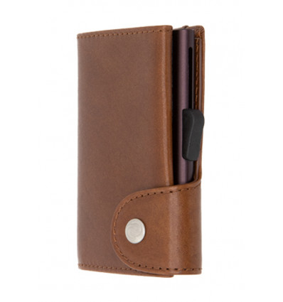 C-Secure Kaarthouder/Portefeuille Vegetable Tanned Leather - Gun