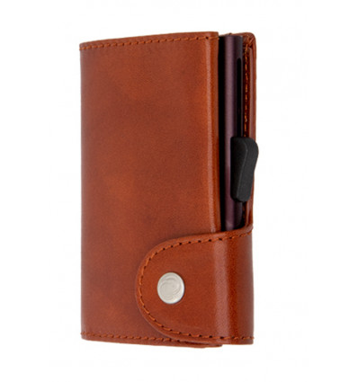 C-Secure Kaarthouder/Portefeuille Vegetable Tanned Leather - Macchiato