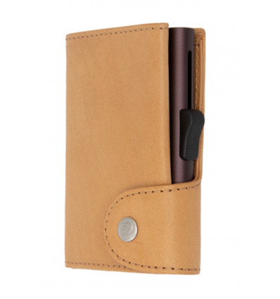 C-Secure Kaarthouder/Portefeuille XL Vegetable Tanned Leather - Saddle