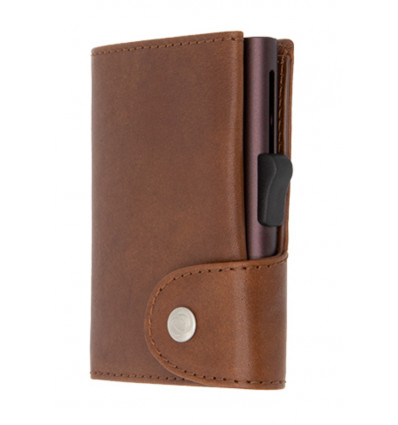 C-Secure Kaarthouder/Portefeuille XL Vegetable Tanned Leather - Gun