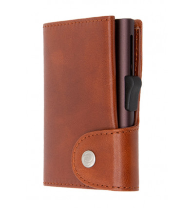 C-Secure Kaarthouder/Portefeuille XL Vegetable Tanned Leather - Macchiato