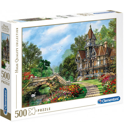 Clementoni Puzzel Old Waterway Cottage 500 Stuks